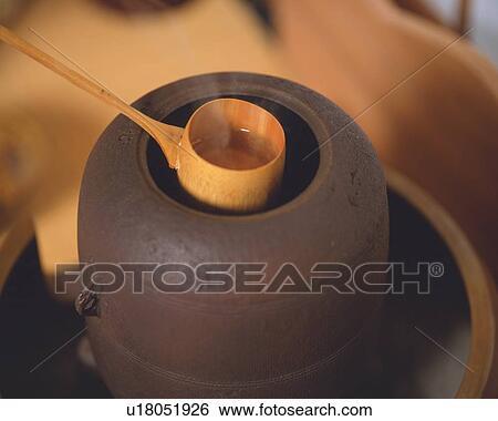 Stock Bilder - bambus schöpflöffel, schaufeln, heißes wasser, von ...