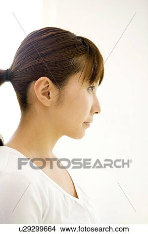 stock photo of profile of japanese woman u29299664 search stock