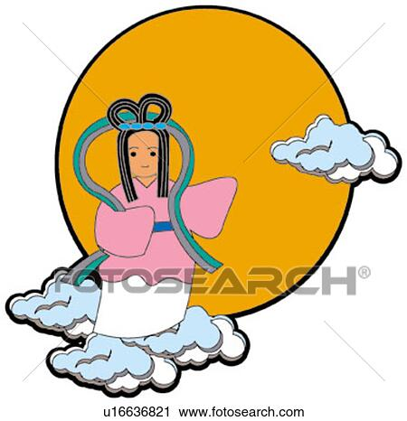 clipart of design moon greeting card pretty pattern moon rh fotosearch com greeting cardsclipart free greeting card clip art free