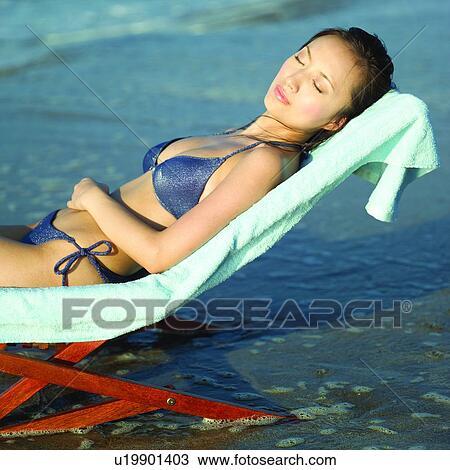 9a622eb865 Women, Bikini, Swimsuit, Sea, Asian, Beautiful woman, Oceans Stock ...