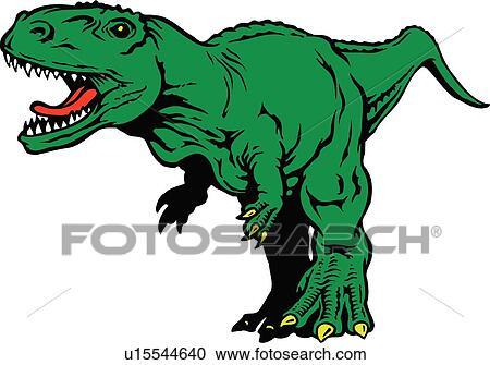 Cute Tyrannosaurus Rex Dinosaur Cartoon Clipart Vector - FriendlyStock