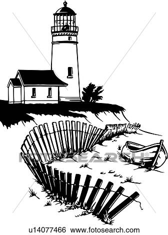 clip art of illustration lineart lighthouse nautical marine rh fotosearch com Lighthouse Silhouette Clip Art String Art Lighthouse