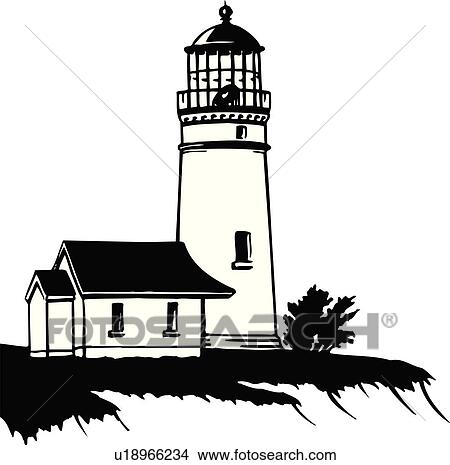 clipart of illustration lineart lighthouse nautical marine rh fotosearch com String Art Lighthouse Lighthouse Silhouette Clip Art