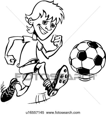clipart of illustration lineart soccer player sport sports