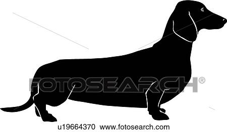 clipart of dachshund u19664370 search clip art illustration rh fotosearch com dachshund clipart images dachshund clipart silhouette