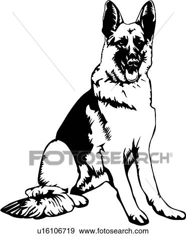 clip art of german shepherd03 u16106719 search clipart rh fotosearch com german shepherd clip art black and white german shepherd head clipart
