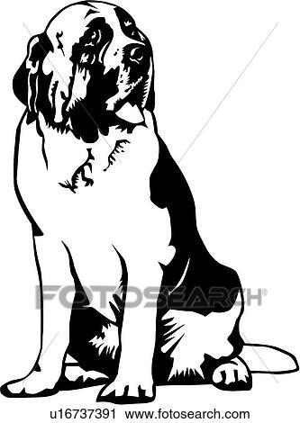 clipart of saint bernard u16737391 search clip art illustration