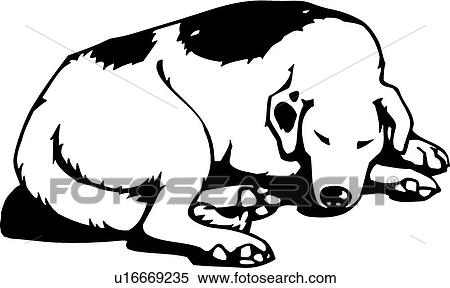 clipart of sleeping dog u16669235 search clip art illustration rh fotosearch com sleeping dog animated clipart Quiet Sleeping Dogs