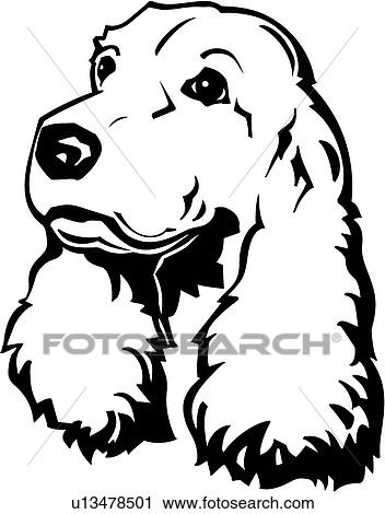 Clipart cocker spaniel u13478501 s g i clipart - Dessin de cocker ...