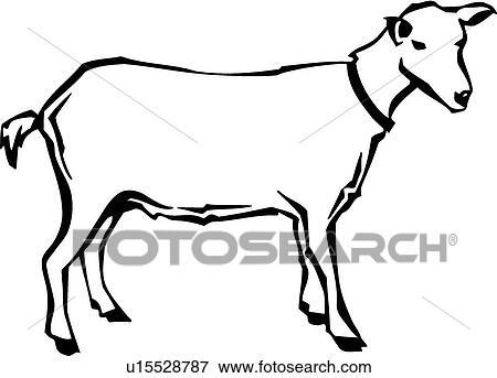 clip art of goat u15528787 search clipart illustration posters rh fotosearch com clip art goat free clip art goat head