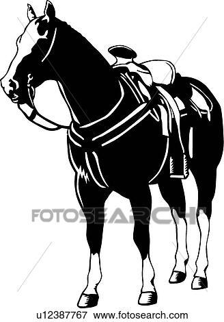 Clip Art Of Standing Horse U12387767