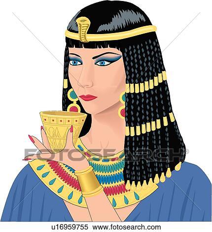 クリップアート 切り張り イラスト 絵画 集 cleopatra u16959755