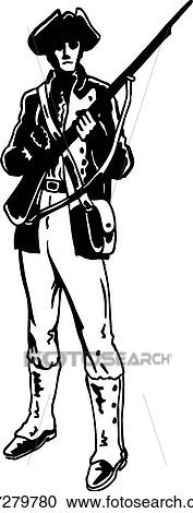 clipart of minuteman u17279780 search clip art illustration rh fotosearch com Minuteman Logo minutemen clipart