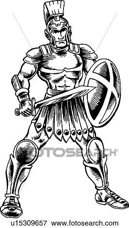Clip Art Of Roman Soldier U15309657 Search Clipart