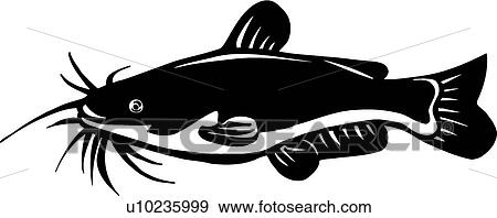 clip art of catfish u10235999 search clipart illustration posters rh fotosearch com flathead catfish clipart fried catfish clipart