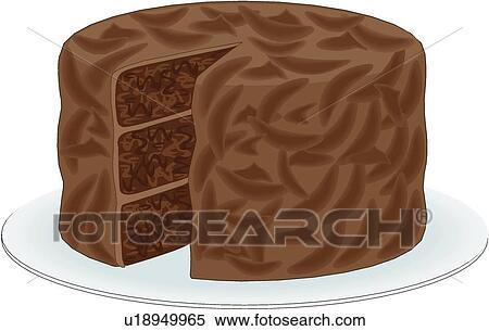 Chocolate Cake Clipart U18949965 Fotosearch