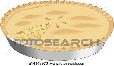 Clipart tarte aux pommes u14148970 recherchez des clip - Dessin tarte aux pommes ...