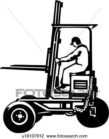 Clipart Carretilla Elevadora U18107912 Buscar Clip Art