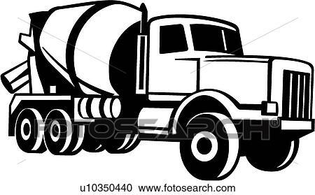 clipart of cement truck u10350440 search clip art illustration rh fotosearch com concrete clip art free clipart concrete truck