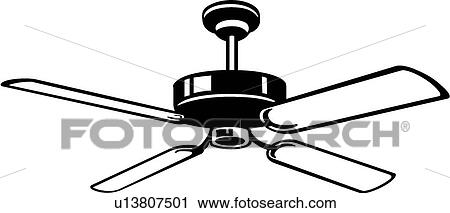 clipart of ceiling fan u13807501 search clip art illustration rh fotosearch com  ceiling fan clipart black and white