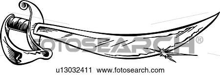 Clipart Of Pirate Sword U13032411