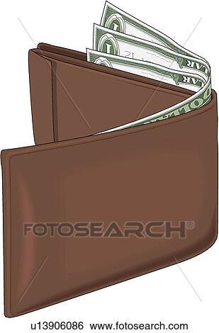 Wallet Clip Art | u13906086 | Fotosearch