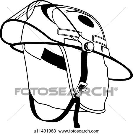 clip art of fire helmet u11491968 search clipart illustration rh fotosearch com yellow fire helmet clip art fire helmet clip art images
