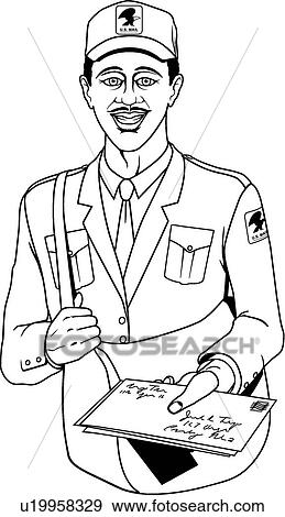 Mail Carrier Clip Art | u19958329 | Fotosearch