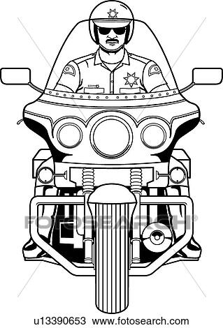 clipart of motorcycle cop u13390653 search clip art illustration rh fotosearch com  cop clipart black and white