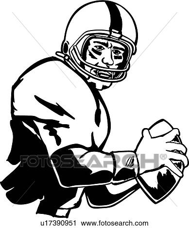 clipart of quarterback u17390951 search clip art illustration rh fotosearch com football quarterback clipart