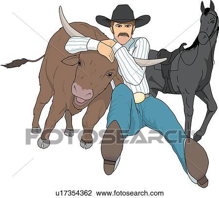 Clipart of Rodeo u17354362 - Search Clip Art fdeac660560