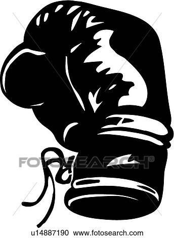 Clipart gant boxe u14887190 recherchez des clip arts - Gant de boxe dessin ...
