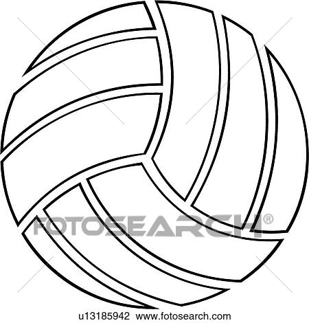 clipart of volleyball u13185942 search clip art illustration rh fotosearch com clip art volleyball logos clipart volleyball court