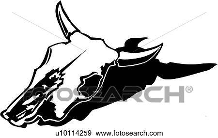 clip art of cow skull u10114259 search clipart illustration rh fotosearch com cow skull head clip art Boho Cow Skull Clip Art