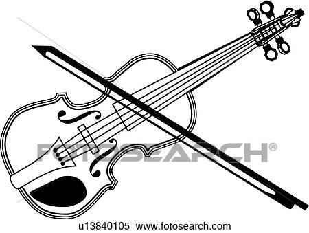 clipart of fiddle u13840105 search clip art illustration murals rh fotosearch com Violin Scroll Clip Art cat and fiddle clipart