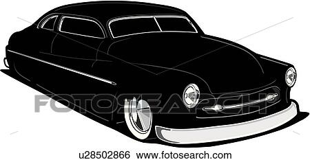 Clip Art of car, auto, automobile, cars, autos, automobiles, 1950 ...