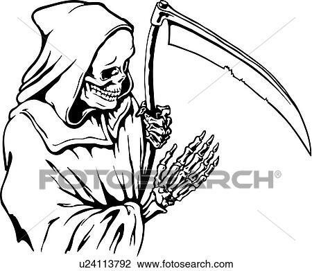 clipart of death doom creepy scary extreme