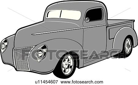 clip art of truck auto automobile trucks autos automobiles rh fotosearch com chevy pickup truck clipart chevy pickup truck clipart