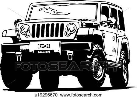 clipart illustration lineart voiture auto automobile quatre wheeler u19296670. Black Bedroom Furniture Sets. Home Design Ideas