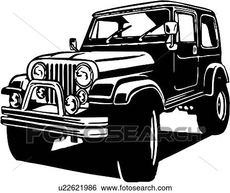 clipart illustration lineart voiture auto automobile quatre wheeler u22621986. Black Bedroom Furniture Sets. Home Design Ideas