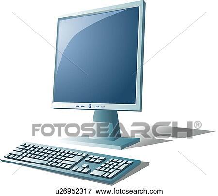 clipart moniteur ordinateur informatique clavier moniteur lcd lcd ic ne u26952317. Black Bedroom Furniture Sets. Home Design Ideas