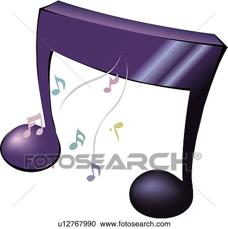 Clipart - art, signe, notes, notation musicale, musique, chanter ...