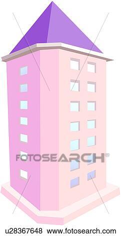 Clipart - architecture moderne, maison de plusieurs pièces, logo ...
