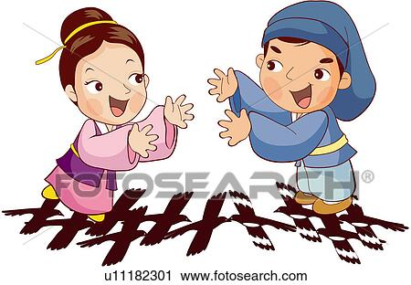 Clipart of excitement, transmission, zest, funny, children`s story ...