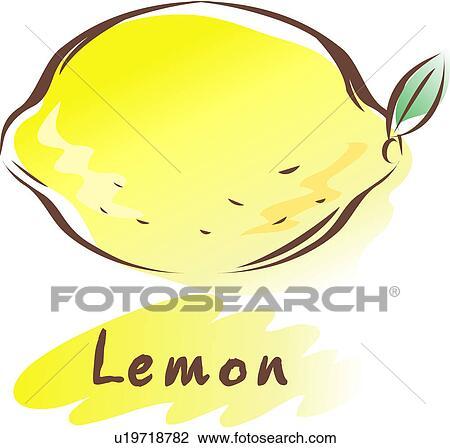 Clipart frutta icona piante pianta limone u19718782 for Clipart frutta