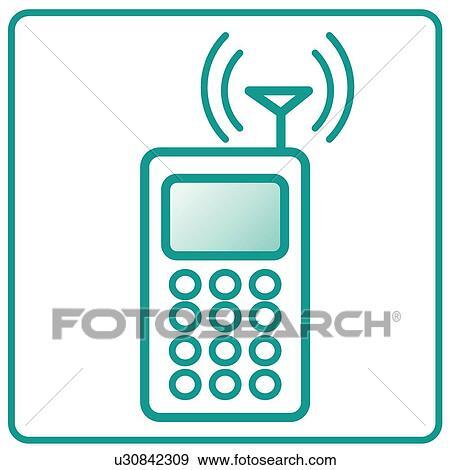 Clip Art - antenne, heiligenbilder, mobilfunk, handy, elektronik ...