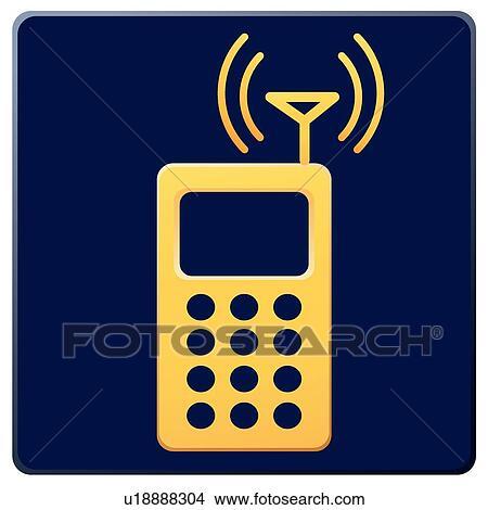 Clipart - antenne, heiligenbilder, mobilfunk, handy, elektronik ...