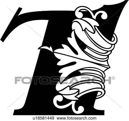 clip art of 7 fancy number hand lettered ornate u18581449 rh fotosearch com number 7 clipart free pink number 7 clipart
