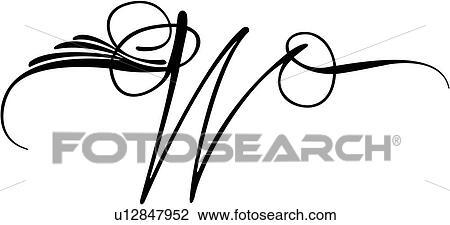 Clipart Of Alphabet Capital Letter Lettered Pinstripe