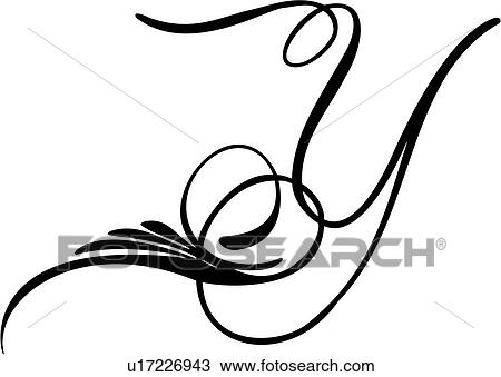 Clipart Of Alphabet Capital Letter Lettered Pinstripe
